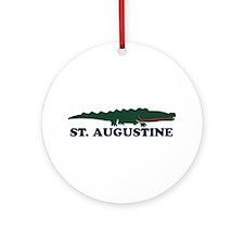 St. Augustine - Alligator Design. Ornament (Round)