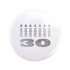 "30th Birthday Candles 3.5"" Button"