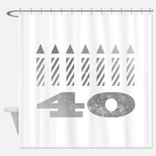 40th Birthday Candles Shower Curtain
