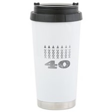 40th Birthday Candles Travel Mug