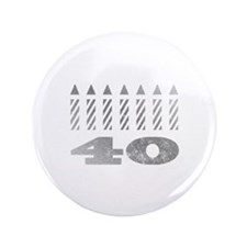"""40th Birthday Candles 3.5"""" Button"""