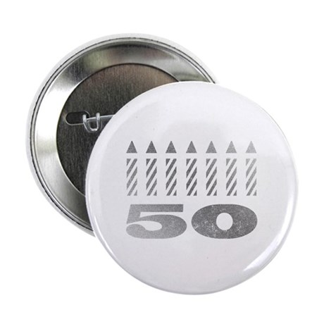 """50th Birthday Candles 2.25"""" Button (100 pack)"""