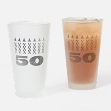 50th Birthday Candles Drinking Glass