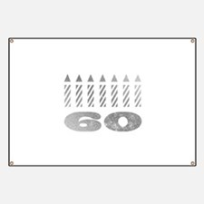 60th Birthday Candles Banner