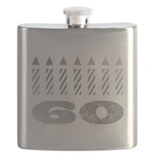 60th Birthday Candles Flask