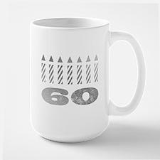 60th Birthday Candles Mug