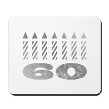 60th Birthday Candles Mousepad