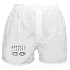 60th Birthday Candles Boxer Shorts