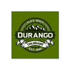 "Durango Olive Square Sticker 3"" x 3"""