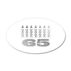 65th Birthday Candles Wall Decal