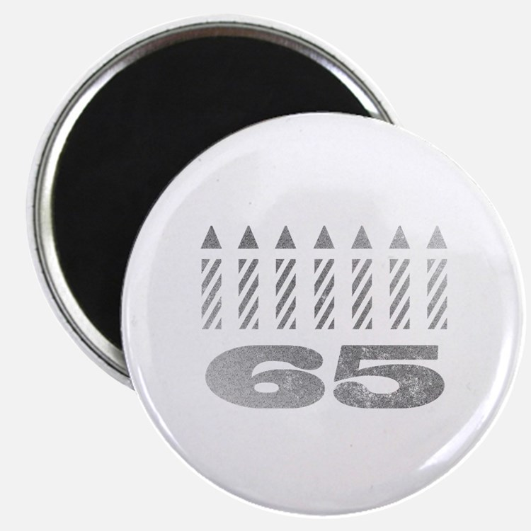65th Birthday Candles Magnet