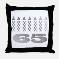 65th Birthday Candles Throw Pillow