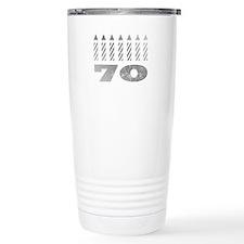 70th Birthday Candles Travel Mug