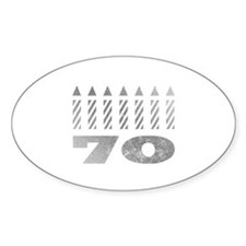 70th Birthday Candles Decal