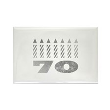 70th Birthday Candles Rectangle Magnet