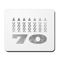 70th Birthday Candles Mousepad