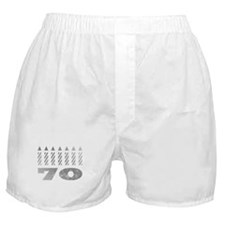70th Birthday Candles Boxer Shorts