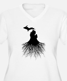 Michigan Roots Plus Size T-Shirt
