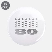 """80th Birthday Candles 3.5"""" Button (10 pack)"""
