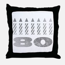 80th Birthday Candles Throw Pillow