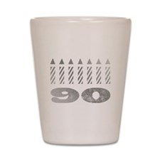 90th Birthday Candles Shot Glass