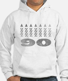 90th Birthday Candles Hoodie