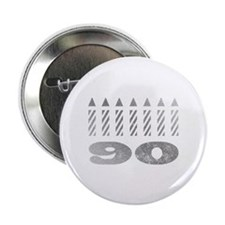 "90th Birthday Candles 2.25"" Button"