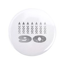 """90th Birthday Candles 3.5"""" Button"""