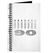 90th Birthday Candles Journal