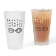 90th Birthday Candles Drinking Glass