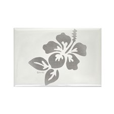 Hawaiian Flower Rectangle Magnet