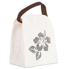 Hawaiian Flower Canvas Lunch Bag