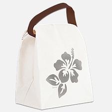 Hawaiian Flower Canvas Lunch Bag