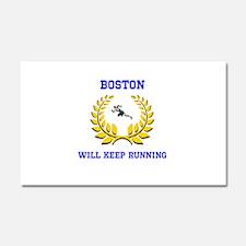 Boston Strong Keep Running Car Magnet 20 x 12