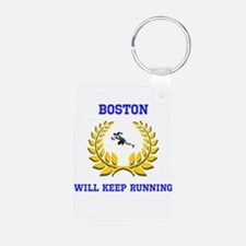 Boston Strong Keep Running Keychains