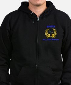 Boston Strong Keep Running Zip Hoodie