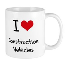I love Construction Vehicles Small Mug