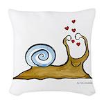 Self-Loving Snail | Woven Throw Pillow