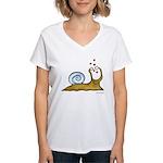 Self-Loving Snail | Women's V-Neck T-Shirt