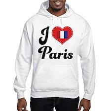 I Heart Paris Flag Hoodie