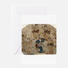 Dance - Toyokuni Utagawa - c1815 - woodcut Greetin