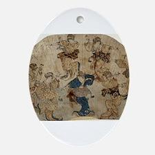 Dance - Toyokuni Utagawa - c1815 - woodcut Oval Or