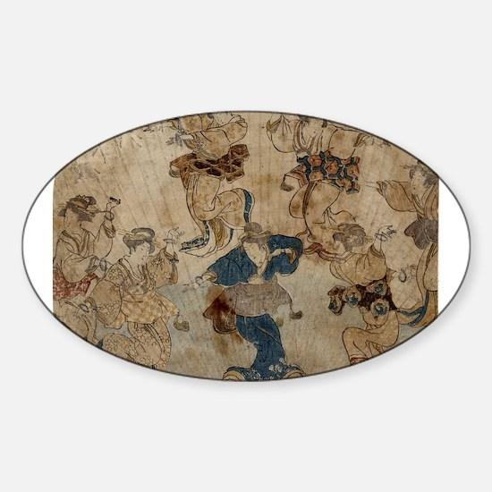 Dance - Toyokuni Utagawa - c1815 - woodcut Bumper Stickers