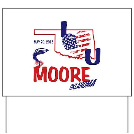 I Love U Moore Twister Yard Sign