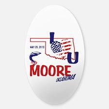 I Love U Moore Twister Decal