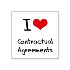 I love Contractual Agreements Sticker