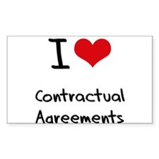 I love Contractual Agreements Decal