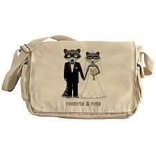 Raccoons Wedding Messenger Bag