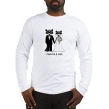 Raccoons Wedding Long Sleeve T-Shirt