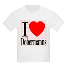 I Love Dobermanns Kids T-Shirt